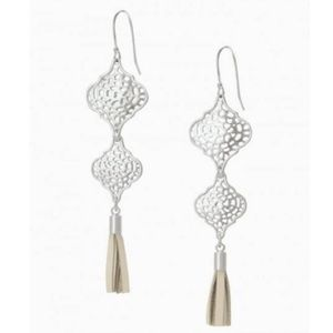 :: Stella & Dot [V] 3-in-1 SILVER Plait Earrings